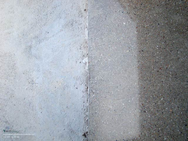 pulido abrillantado hormigon garaje